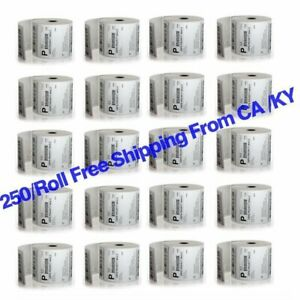250 Roll Direct Thermal Shipping Barcode Labels 4x6 For Zebra Eltron 2844 Zp450