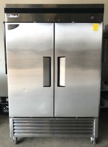 Turbo Air Tsr 49d 2 Two Double Door Refrigerator Cooler Reach In Commercial