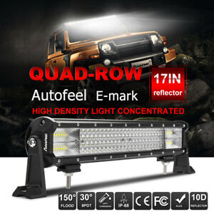 17 Inch Cree Led Light Bar Off Road Boat Fog Truck Jeep Ford 20 Suv Atv 4wd Ute