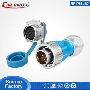 Cnlinko M24 Connector Ip67 Waterproof 24pin 5a Electrical For Battery Charger