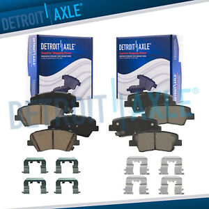 Front Rear Ceramic Brake Pads W hardware For Hyundai Elantra Gt Veloster