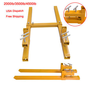 2000lbs 3500lbs 4500lbs Capacity Clamp On Pallet Forks Heavy Duty Loader Bucket