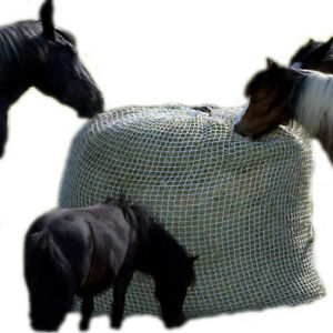 Slow Bale Buddy Slow Feeder Size Medium Feed Hay Horses Equine Mesh Net