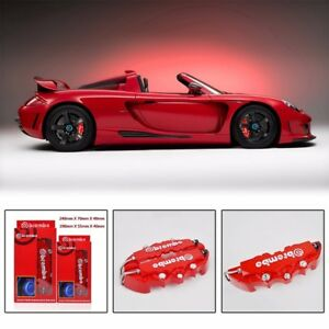 4pcs Red 3d Brembo Style Front Rear Universal Disc Car Brake Caliper Covers