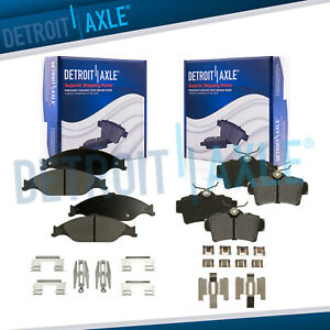 Front Rear Ceramic Pads For 1999 2000 2001 2002 2003 2004 Ford Mustang Base Gt
