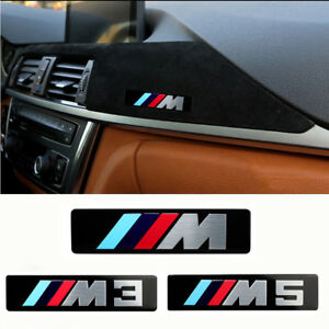 2x M Performance Aluminum Sticker For Bmw M M3 M5 For F10 F30 G30 E46 E90 E60
