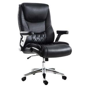 Lch Big Tall High Back Pu Leather Executive Office Chair Adjustable Tilt F s