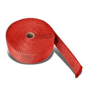 37 Feet 2 Motor Cycle Header Exhaust Turbo Intake Manifold Heat Wrap Roll Red