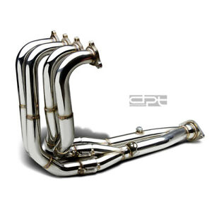 J2 Engineering Tri y Exhaust Manifold Header 94 01 Acura Integra Gsr type r Dc2