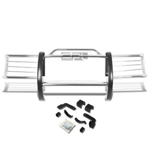 Fit 84 01 Jeep Cherokee Xj Suv Chrome Stainless Steel Front Grill Guard Flame