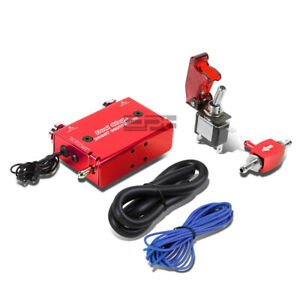 Electronic Dual Stage Red Manual Turbo Boost Controller rocket Switch hose Kit