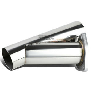 2 25 Stainless Steel Cut Out 3 Bolt Flange Catback Exhaust Down Y Pipe Piping