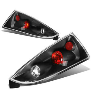 Fit 02 07 Ford Focus 5dr Wagon Black Housing Tail Light Rear Brake Parking Lamps