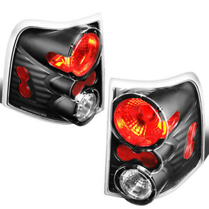 Fit 02 05 Ford Explorer Black Housing Tail Light Rear Brake parking reverse Lamp