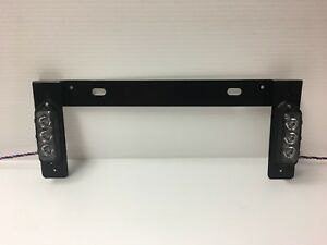 Feniex T3 License Plate Bracket Kit Red White Surface Grill Grille Light Led