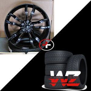 22 612 Style Wheels Fits Bmw X5 X6 X5m X6m Gloss Black Finish With Tires