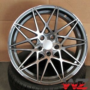 19 Competition Style Wheels Gunmetal Fits Bmw 2 3 4 Series 328 330 335 535 545