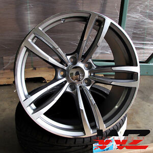 20 Inch 437 Style Wheels Gunmetal Machined Fits Bmw 3 4 5 6 Series M3 M4 M5 M6