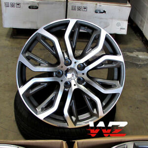 20 375 Style Staggered Wheels Fits Bmw X5 X6 X5m X6m Machined Face gunmetal