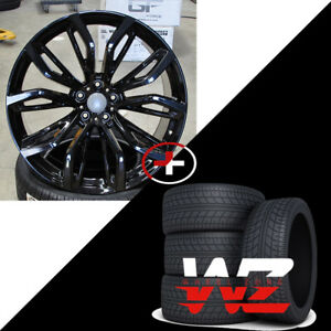 20 375 Style Wheels Fits Bmw X5 X6 X5m X6m Gloss Black Finish Rims W Tires