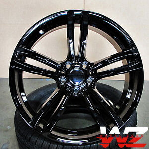 19 Inch 437 Style Wheels Gloss Black Fits Bmw 3 4 5 6 Series M3 M4 M5 M6