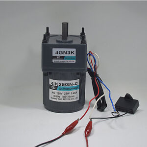 4ik25gn c Ac220v 25w Single Phase Gear Motor Low Speed Cw ccw With Capacitor
