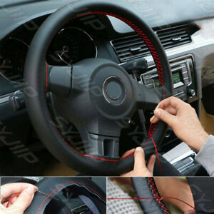 35cm 13 Durable Car Diy Leather Steering Wheel Cover Protect Needles