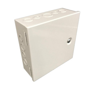 Sheet Metal Wires Junction Box Electrical Enclosure Hinged Cover 10 X10 X4 Gray