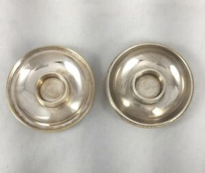 Jewish Shabbat Silver Plate Traveling Candlesticks In Traveling Case