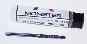 1 8 1250 Solid Carbide Jobber Drill Altin Coated 450 101250b