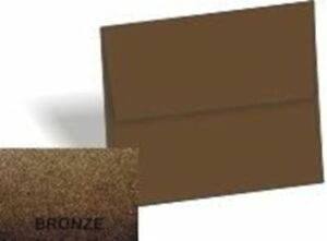Metallic Bronze A6 4 3 4 x 6 1 2 Envelopes 1000 pk 120 Gsm 81lb Text Paper