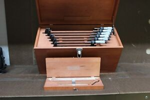 Starrett Outside Micrometer Set 6 12 With Standards And Box