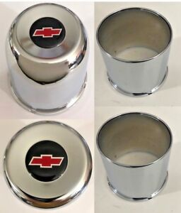 4 Wheel Center Caps 4 25 For Chevy 6 Lug 6 X5 5 Pickup Truck 4x4 Red Bowtie