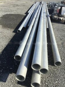Aluminum Round Tubing 5 1 2 Od X 50 Ft Long Seamless Drawn 6061 Schedule 80