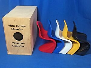 Vitra Design Museum Miniatures Set Of 5 Verner Panton Chairs In Box
