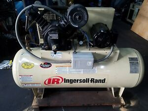 Ingersoll Air Compressor 7 5 Hp Horizontal 460 240 Volts 3 Phase Only