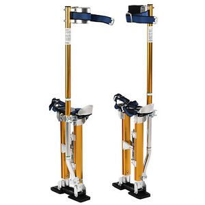 18 30 Aluminum Drywall Stilts Dual Spring Drywall Painting Work Stilts Yellow