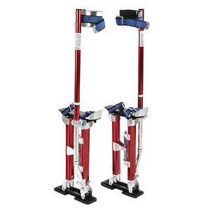 18 30 Inch Aluminum Drywall Stilts Dual Spring Drywall Painting Work Stilts Red