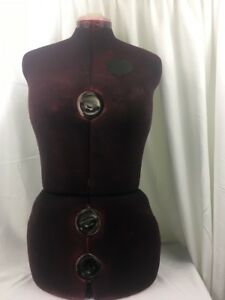 Singer Adjustable 12 dial Dress Form Mannequin Stand Red 151 Large Sz Xl 16 22 5