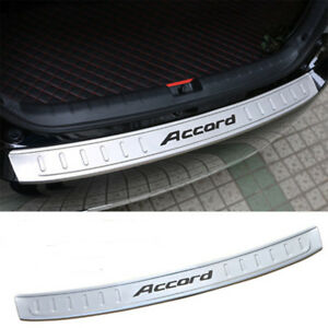 Car Outer Rear Bumper Sill Plate Guard Protector Cover For Honda Accord 14 2015