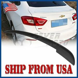 Us Unpainted Black Abs Rear Trunk Spoiler Factory Style For Chevy Cruze 2016 17