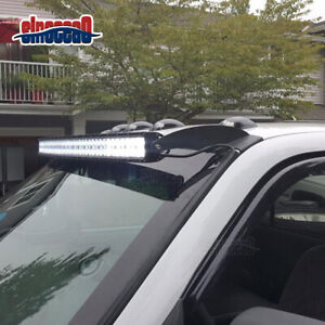 For Dodge Ram 1500 2500 3500 52 Curved Light Bar Roof Pillar Mount Bracket Kit