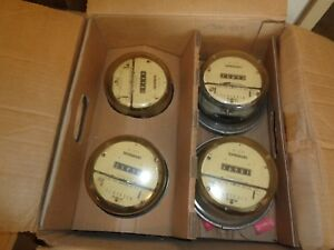 Pack Of 4 Schlumberger Type J5s Electric Watthour Meter Cl200 240v 3w 30ta 7 2kh