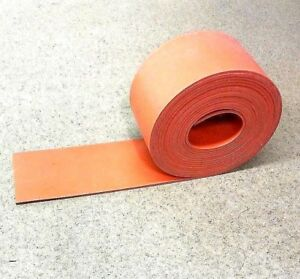 Silicone Rubber Sheet Solid Us Hi temp 1 8 thk X 3 W X 36 L Strip 60 D Red