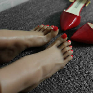 Silicone Brown Lifesize Female Mannequin Foot Display Model Shoes Socks