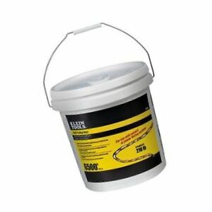 Klein Tools 56110 6500 feet Bucket Poly Pull Line With Orange Tracer