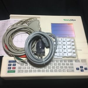 Welch Allyn Schiller At 2 Plus Interpretive Ekg Complete Tested W Warranty