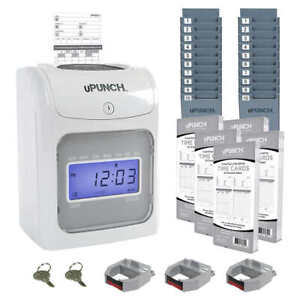 Upunch Electronic Time Clock For Employees Payroll Machine Punch In System Card