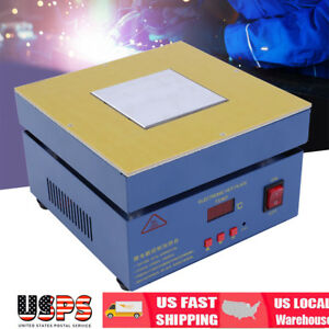 110v Electronic Hot Plate Preheat Preheating Station Lab 800w 100 100mm