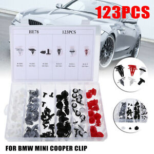 123pcs Wheel Arch Trim Clips Side Door Clips For Bmw Mini Cooper R50 R52 R53 R56